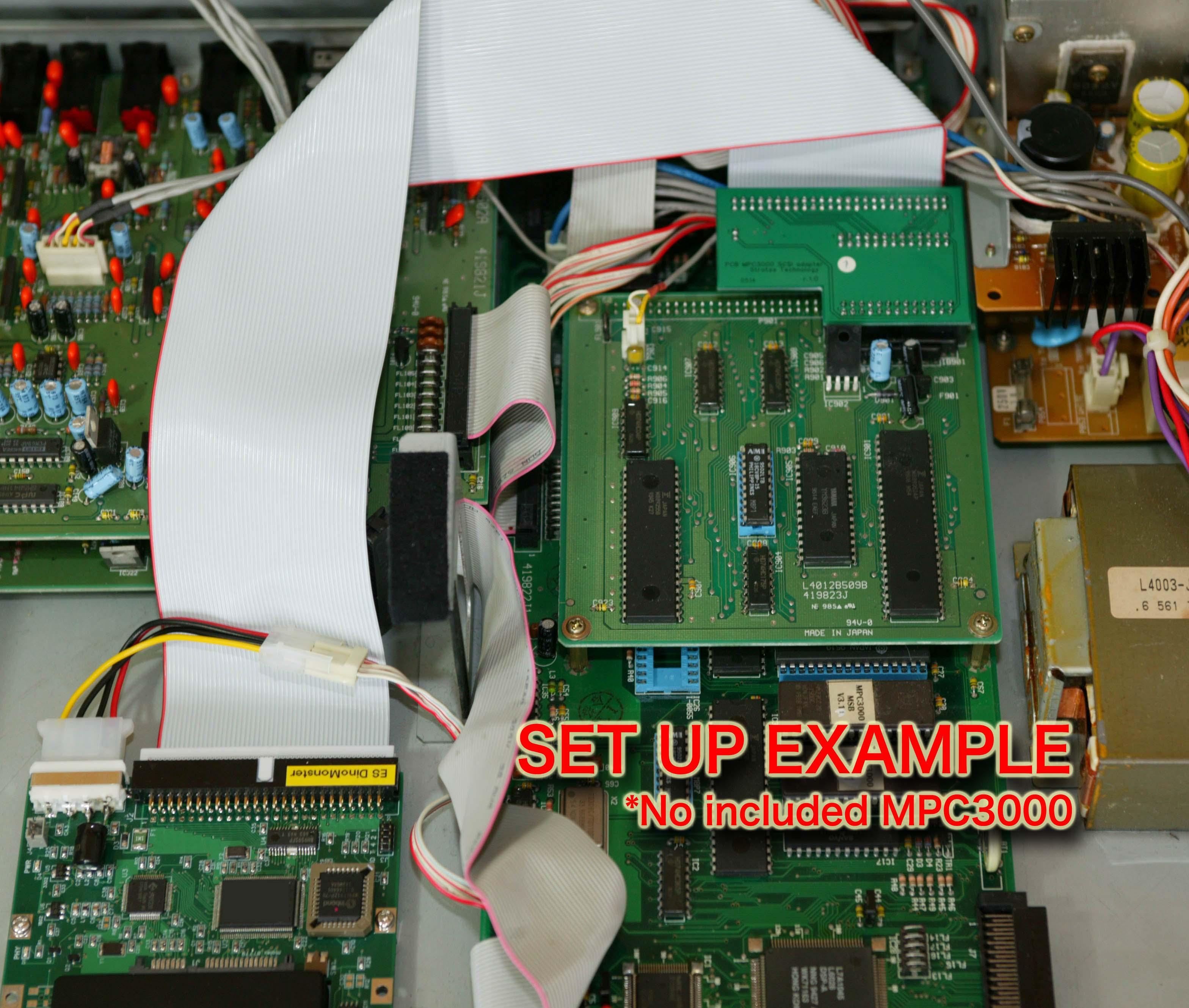 AKAI MPC3000 内蔵SCSI変換アダプター